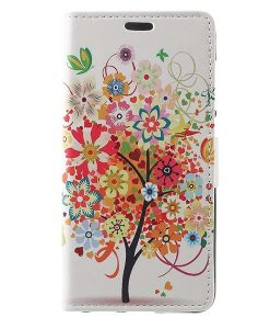 Huawei Honor 8 Lite Leather Folio Case, Flowered Tree.
