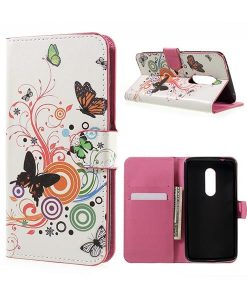 ZTE Axon 7 Wallet Cover Suojakotelo, Circle Butterfly.