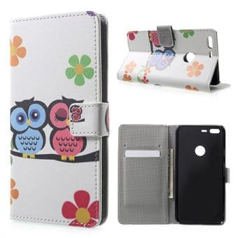 Google Pixel XL Wallet Cover Case, Owls 2.