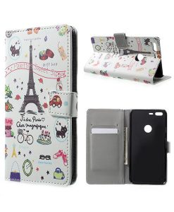Google Pixel XL Wallet Cover Case, Eiffel Tower.