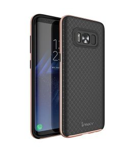 Samsung Galaxy S8+ IPAKY Hybrid Case Cover, Rose Gold.