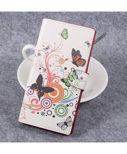 Sony Xperia XZ Premium Wallet Flip Cover, Circle Butterfly.