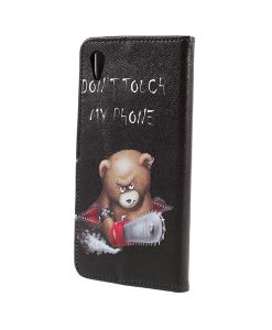 Sony Xperia XA1 Ultra Pattern Printing Wallet Case, Cool Bear.