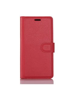 LG G6 Wallet Leather Case, Punainen.