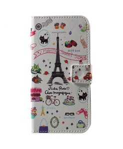 LG G6 Pattern Printing Wallet Case, Eiffel Tower.