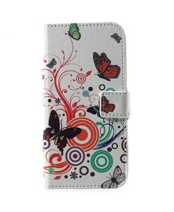 LG G6 Pattern Printing Wallet Case, Circle Butterfly