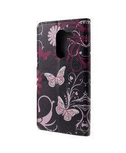 Huawei Honor 6X Pattern Printing Wallet Case, Floral Butterfly.