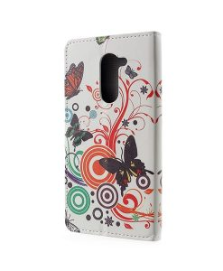 Huawei Honor 6X Pattern Printing Wallet Case, Circle Butterfly.