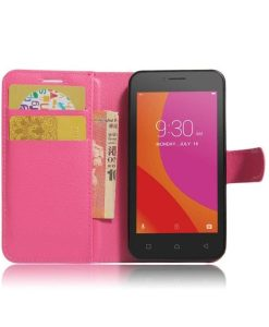 Lenovo A Plus Wallet Leather Case, Rose.
