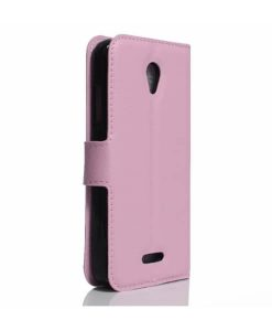 Lenovo A Plus Wallet Leather Case, Pink.