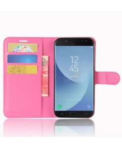 Samsung Galaxy J5 (2017) Wallet Leather Case, Rose.