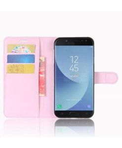 Samsung Galaxy J5 (2017) Wallet Leather Case, Pink.