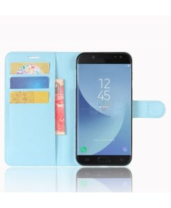 Samsung Galaxy J5 (2017) Wallet Leather Case, Sininen.