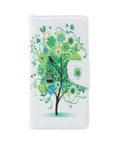 Lenovo P2 Pattern Printing Wallet Case, Green Tree.