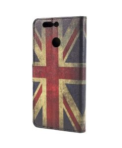 Huawei Honor 8 Pro Pattern Printing Wallet Case, UK Flag.