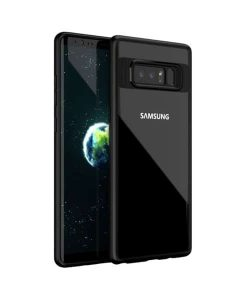 Samsung Galaxy Note 8 IPAKY TPU Frame + Clear Acrylic, Musta.