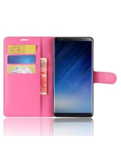 Samsung Galaxy Note 8 Wallet Leather Case, Rose.