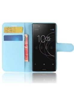 Sony Xperia XZ1 Compact Wallet Leather Case, Baby Blue.