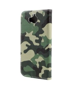 Huawei Y6 (2017) Pattern Printing Wallet Case, Camouflage.
