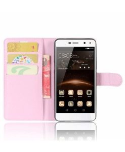 Huawei Y6 (2017) Wallet Leather Case, Pink.