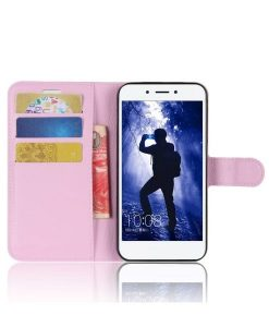 Huawei Honor 6A Wallet Leather Case, Pink.
