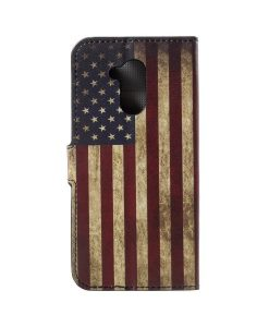 Huawei Honor 6A Printing Wallet Case, US Flag.