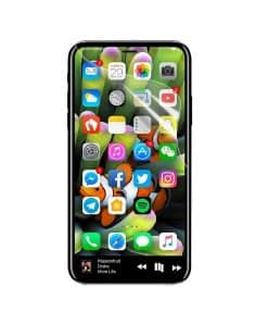 Apple iPhone X Full Coverage Suojakalvo, Kirkas.