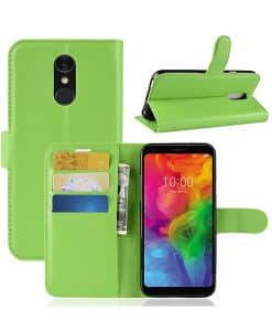 LG Q7 Wallet Leather Case
